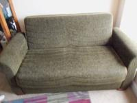 BEAUTIFUL Bent Cane queen size futon. sprawls out to
