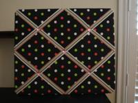 Material publication board for a girl - black, pink & &