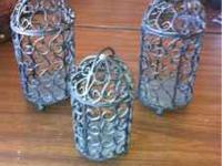 3 - decorative black mini bird cages $5 each call