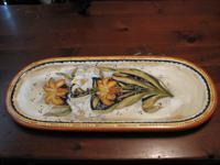 "1) Floral Decorative Platter! $20 Aprox Size 11.5"" x"