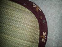 Pair of Japanese tatami mats that have only hung on the