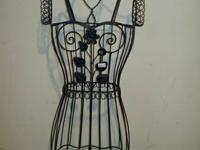 "Very Nice Decorative Dress Form. Lovely. Measures 58"" H"