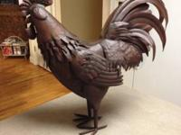 Decorative Metal Rooster finish: oil rubbed bronze