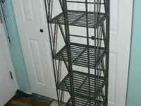 Decorative wrought iron shelving. Very unique look and