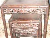 3 Indonesia Hardwood Nesting Tables in very nice