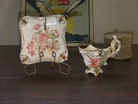 Decorative Plate and Cup Made by Stafford stamped on