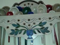 Hand made decorative spoon rack with approx 15 spoons.