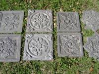 9 STEPPING STONES HANDMADE NO DAMAGE OR CRACKS COME