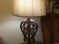 2 high end decorative table lamps Asking $100. both