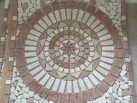 "Decorative Travertine Medallion in 26""x26"". 2 different"