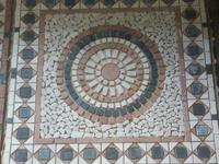 "Decorative Travertine Medallion in 39""x39"". 2 different"