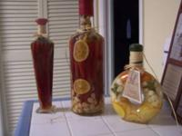 3 Decorative Vegetable Bottles pretty and colourful for