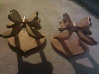 I have 2 Decorative Wood Butterflies with a heart shape