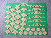 Decorative wood scroll accents. 39 pieces. Great for