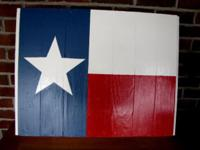 I made these Flags from pallets, I have a Texas, Puerto