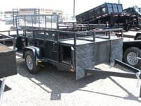 2013 6 X 10 Utility Trailer Built-in Dog Boxes
