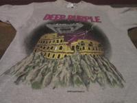 Deep Purple 1985 tour t shirt gray. This is an official
