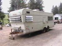 For sale is a travel trailer for the first 450 bucks,