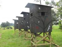 Deer Hunting Shooting Houses  4'x4' on 4' treated legs
