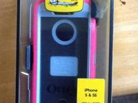 Pink Defender Otter Box for iPhone 5 or 5s. Brand new,
