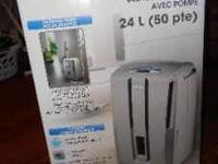 New Delonghi 50-pint dehumidifier with programable