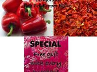 Dehydrated Red Bell Peppers (All Natural) & a Free gift