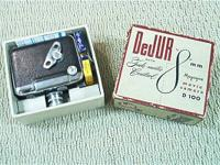 DeJUR Movie Camera in original box. Two filters