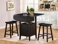 DELIGHTFUL 3PC TABLE SET-- A REAL SPACE SAVER !! CAN BE