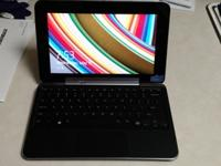 Touch screen tablet with keyboard dock. Comes with lots