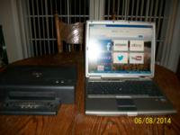 Dell D600 Laptop Computer with docking station. 14 inch