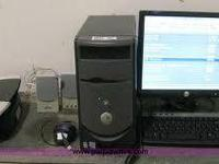 Dell Desktop which includes tower, monitor, printer,