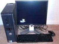 "DELL OPTIPLEX GX 520 WIT A BRAND NEW 17"" ADJUSTABLE"