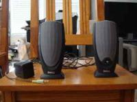 im selling two dell speakers cuz i got a souround sound