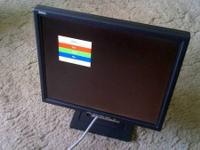 "For sale is a Dell 15"" flat screen lcd display, in in"