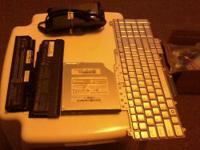 Dell laptop 17 inch monitor and keyboard used for parts