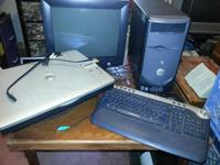"$60 obo -17"" Monitor -Keyboard, Speakers, -Dell AIO922"