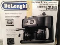 I have a DeLonghi combination coffee/espresso machine