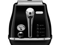 DeLonghi's CTH2003BK Icona 2-Slice Toaster in black,