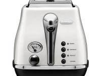 DeLonghi's CTH2003W Icona 2-Slice Toaster, in white,