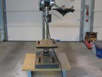 "Delta 12"" drill press 1/3 HP motor/5 speeds with stand"