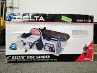 DELTA 31-460 4-Inch Belt/6-Inch Disc Sander Brand New!,