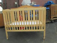 CRIB CONVERTS TO BED, TODDLER BED, LOVE SEAT AND FULL