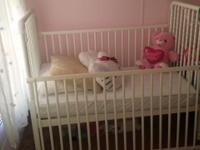 This white delta Jenny Lind 3 in 1 convertible crib can