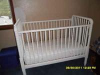 barley used crib with mattress  Location: whitehouse