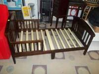 DELTA BROWN TODDLER BED, NEWLY ASSEMBLED- NEVER BEEN