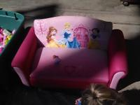 Delta princess theme toddler storage couch and chair