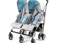 This Silver/Teal LX Side X Side Stroller has a unique