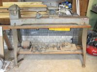 Very old Delta Milwaukee lathe. At the end of the lathe