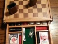 This really nice/well made wooden box includes 2 deck