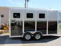 Eclipse 16' aluminum 3 horse slant SM EXT....black and